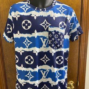 Louis Vuitton Blue Escale Shirt Size Large